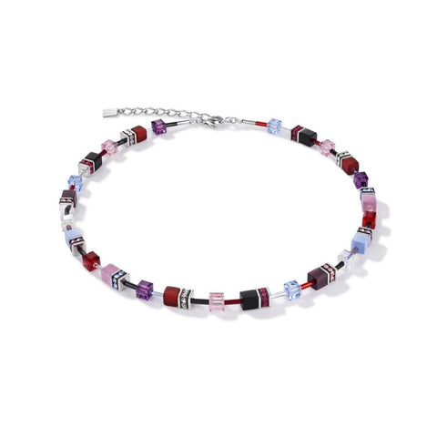 GeoCUBE® Purple Red Blue Necklace