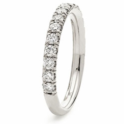 Platinum Brilliant Cut Diamond Set 1/2 Eternity Ring 0.65ct