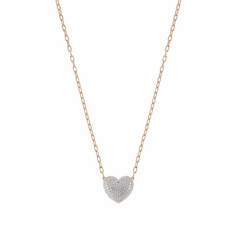 NOMINATION ROSE GOLD CRYSTAL HEART EASYCHIC NECKLACE