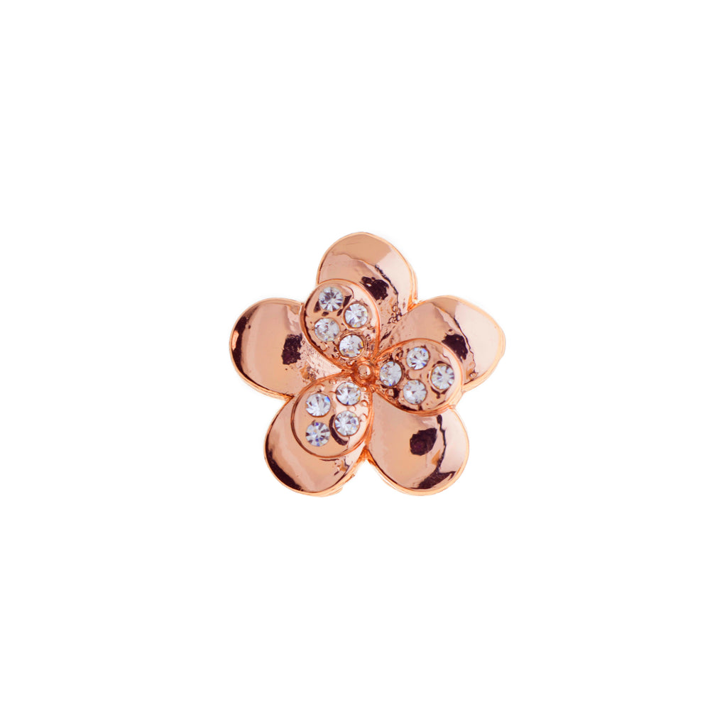 Buckle Up Rose Gold Flower Charm