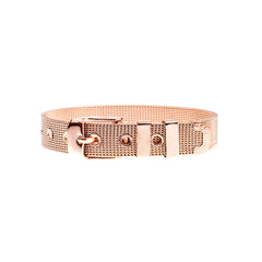 Buckle Up Rose Gold W Charm