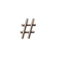 Buckle Up Silver Hashtag Charm