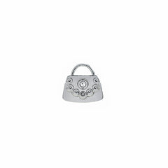 Buckle Up Silver Handbag Charm