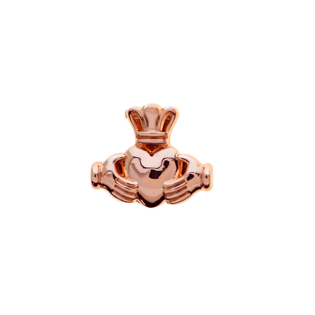 Buckle Up Rose Gold Claddagh Charm