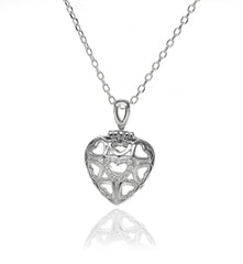 Sterling Silver Heart Pendant With A Ring