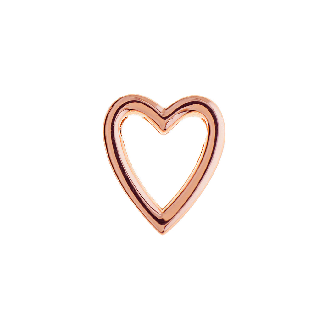 Buckle Up Rose Gold Heart Charm