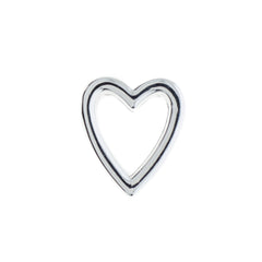 Buckle Up Silver Heart Charm