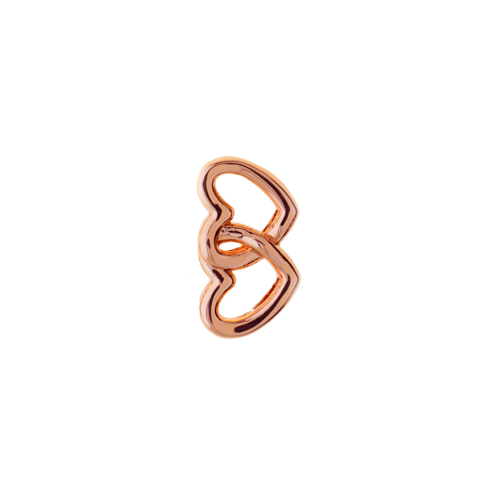 Buckle U Rose Gold Double Heart Charm