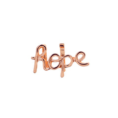 Buckle Up Rose Gold Hope Charm