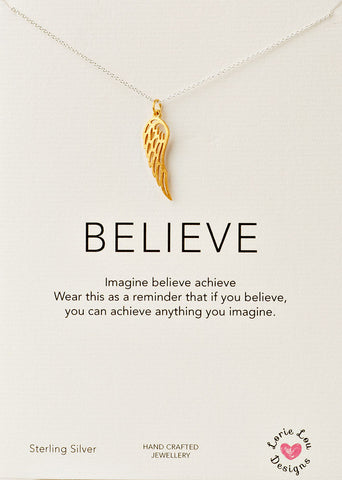 Lorie Lou Designs, Angel Wing Charm Necklace