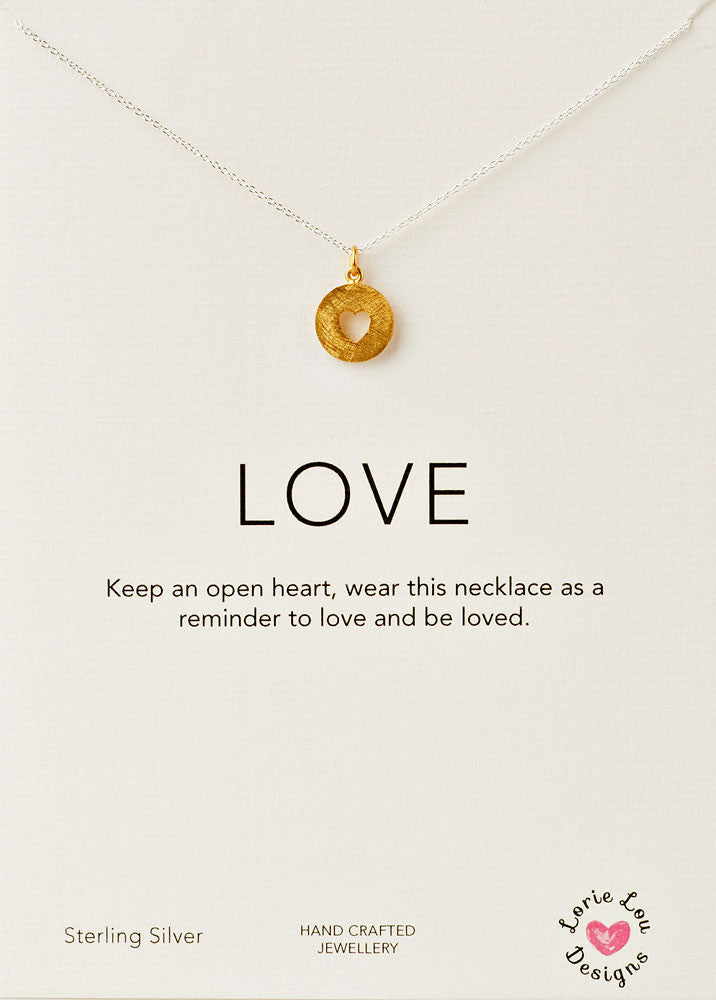 Lorie Lou Designs, Open Heart Charm Necklace