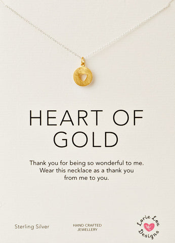 Lorie Lou Designs Heart of Gold Charm Necklace
