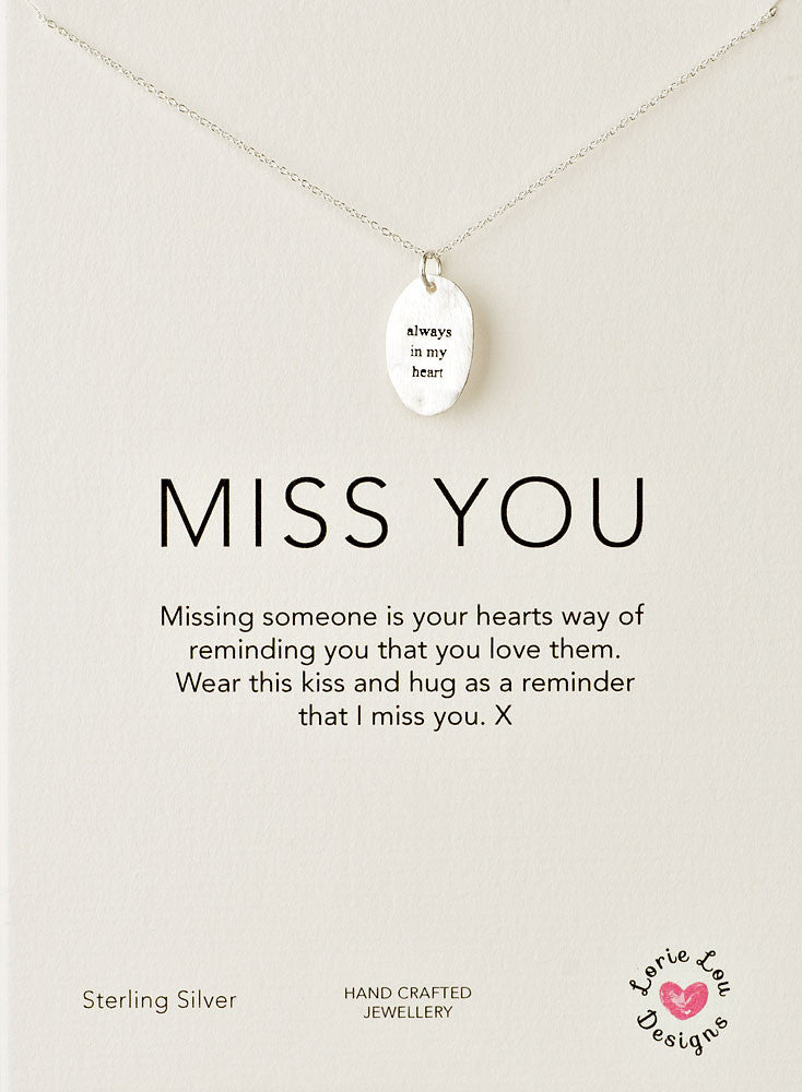 Lorie Lou Designs, Always In My Heart Charm Necklace
