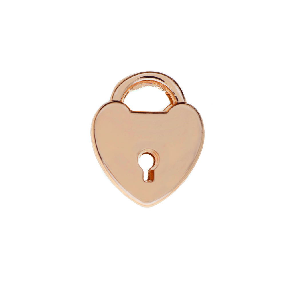 Buckle Up Rose Gold Padlock Charm