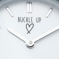 Buckle Up Silver Time Piece