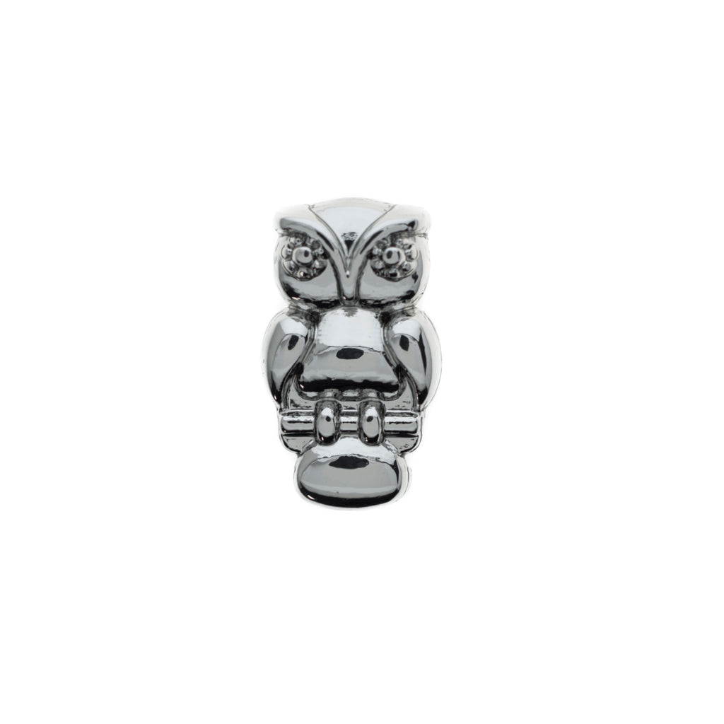 Buckle Up Silver Owl Charm