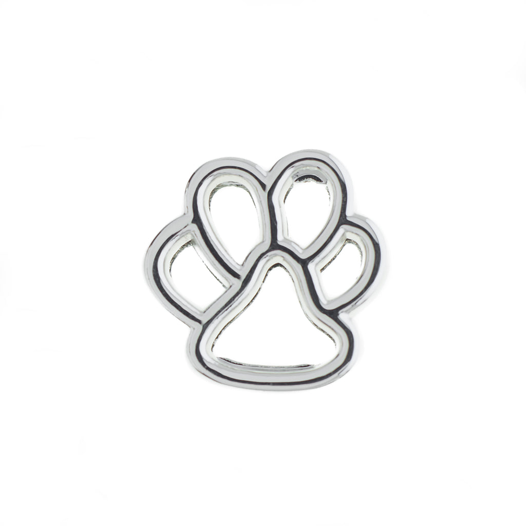 Buckle Up Silver Paw Charm
