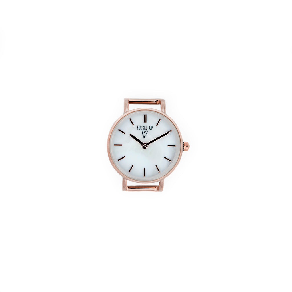 Buckle Up Rose Gold Time Piece