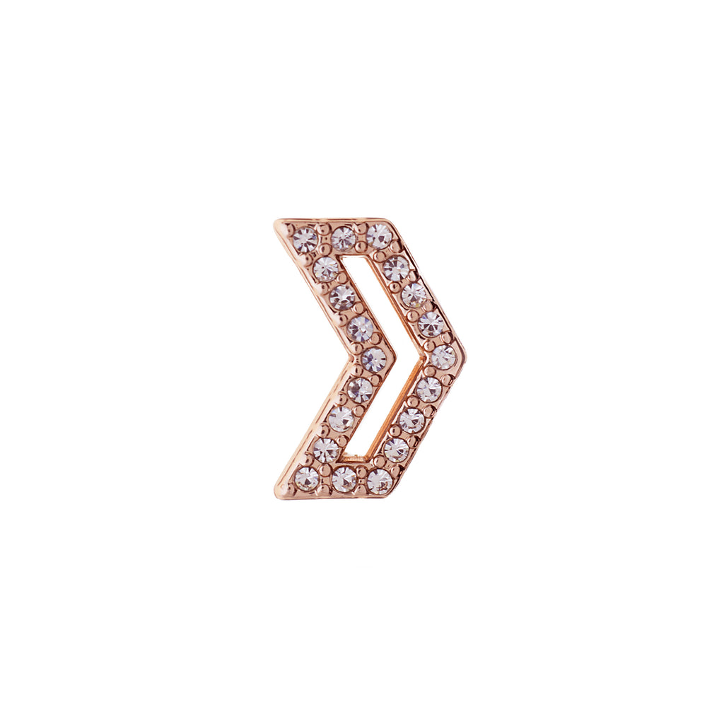 Buckle Up Rose Gold Direction Charm