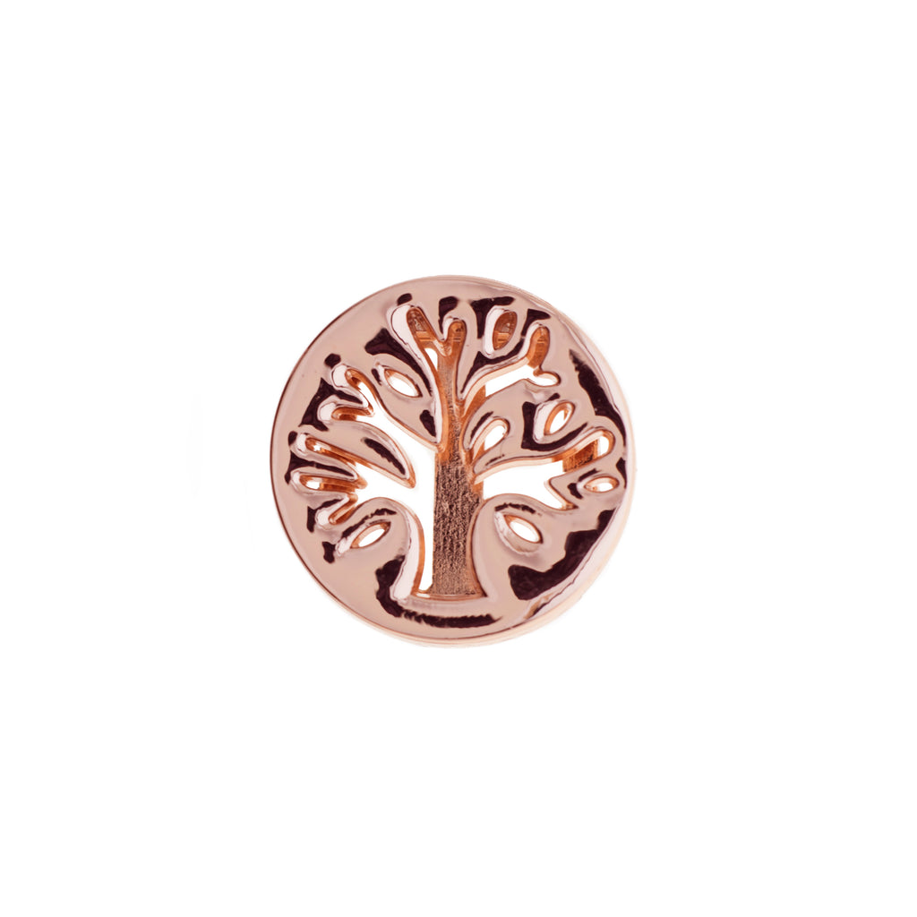 Buckle Up Rose Gold Tree Of Life Charm
