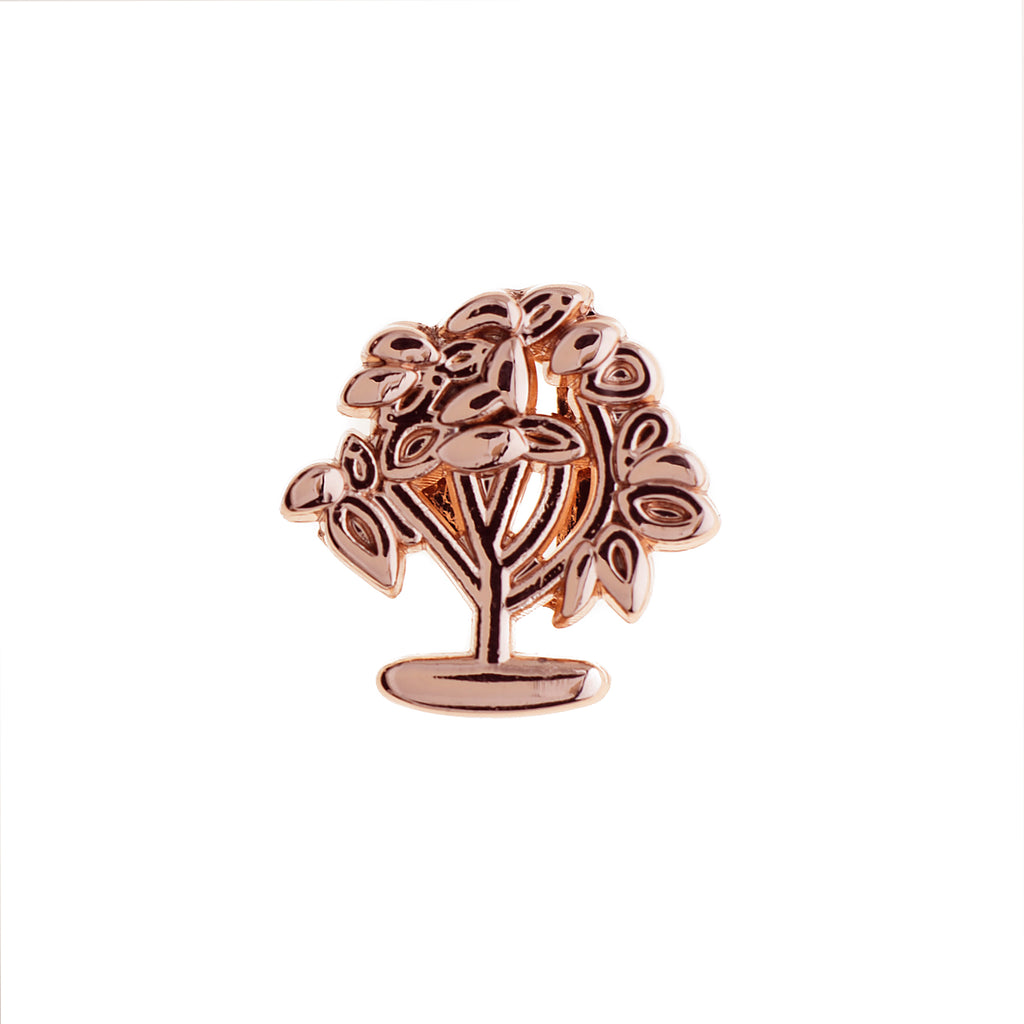 Buckle Up Rose Gold New Life Tree Charm