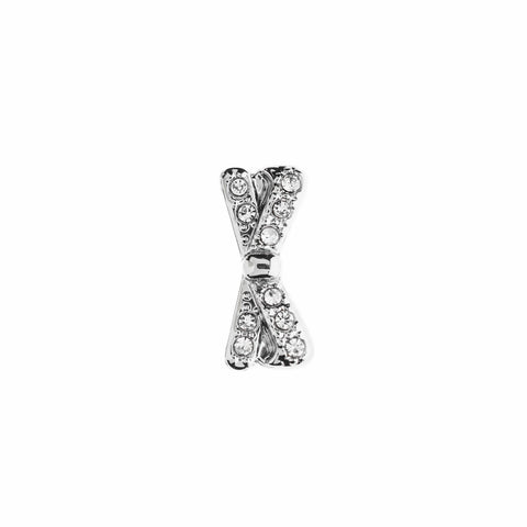 Buckle Up Silver Bow Charm