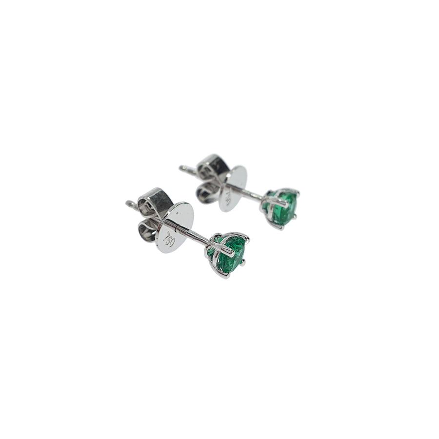 0.54ct Emerald Stud Earrings