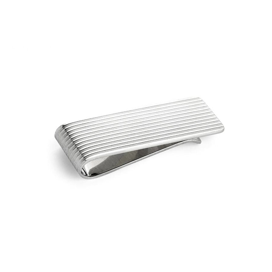 Engine Turned Silver Money Clip