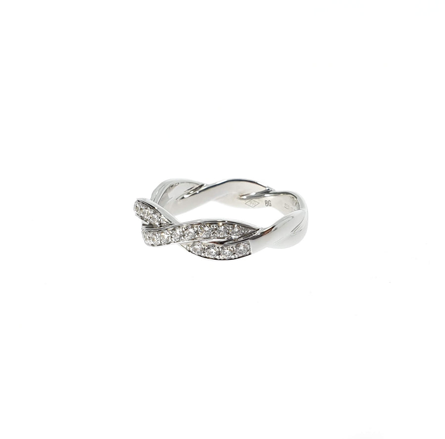 Diamond Plaited Ring