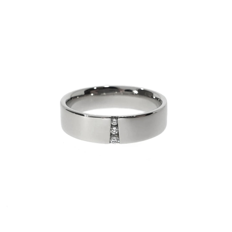 Diamond Set Palladium Wedding Ring