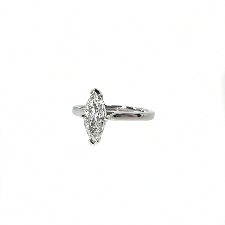 1.05ct Marquise Cut Diamond Solitaire
