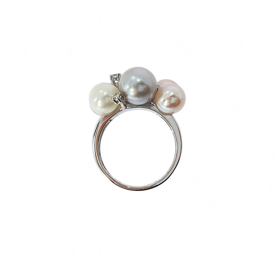 Pearl & Diamond Dress Ring