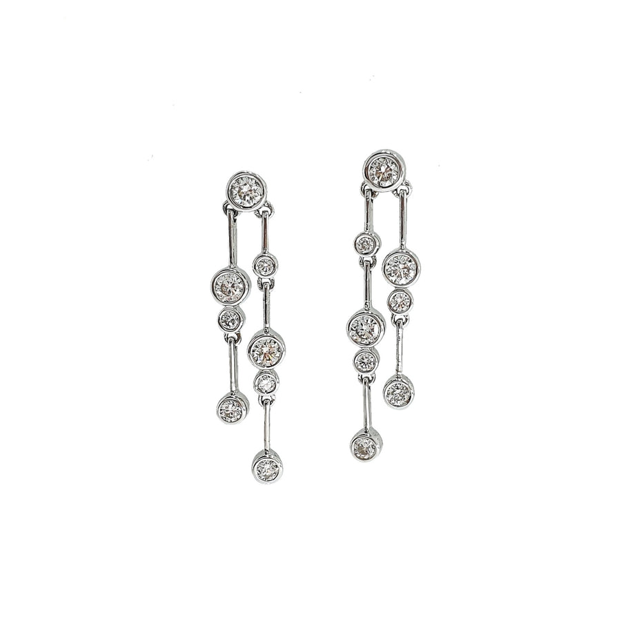 0.78ct Diamond Drop Earrings