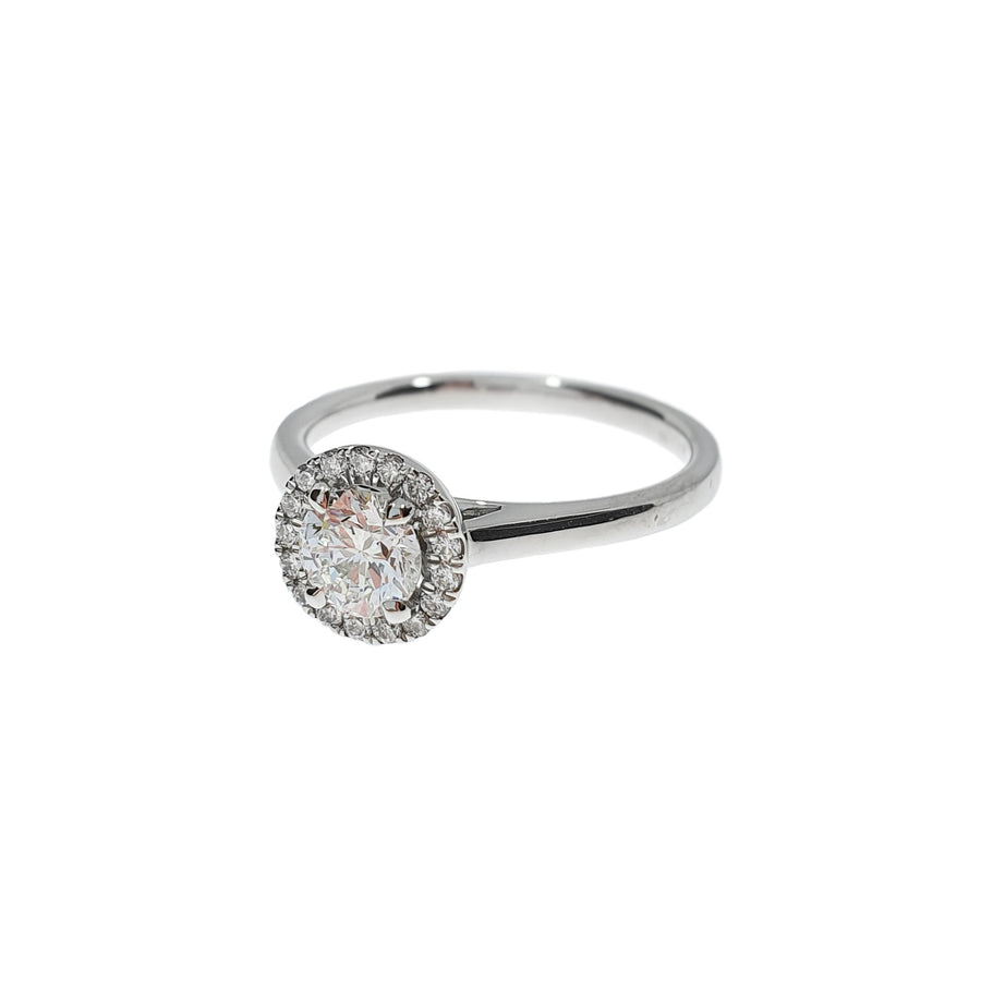 0.51ct Diamond Halo Ring