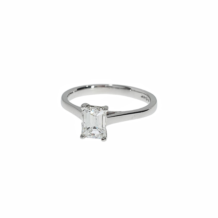 0.71ct Emerald Cut Solitaire Ring