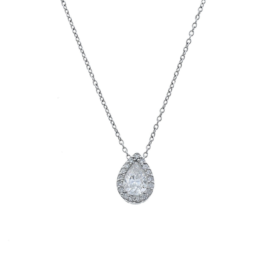Pear Cut Diamond Necklace