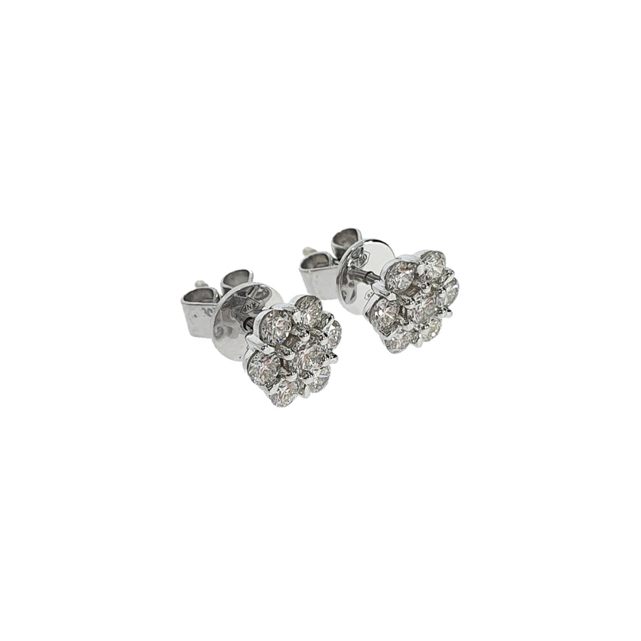 0.66ct Diamond Daisy Cluster Earrings