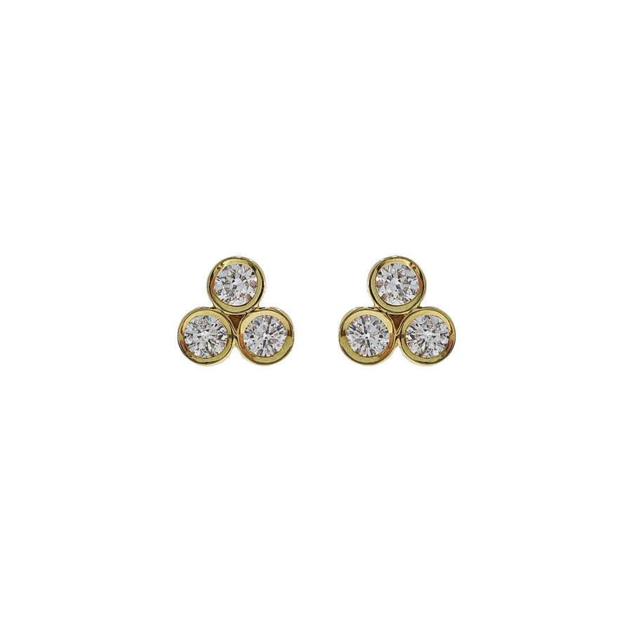0.51ct Diamond Trefoil Earrings