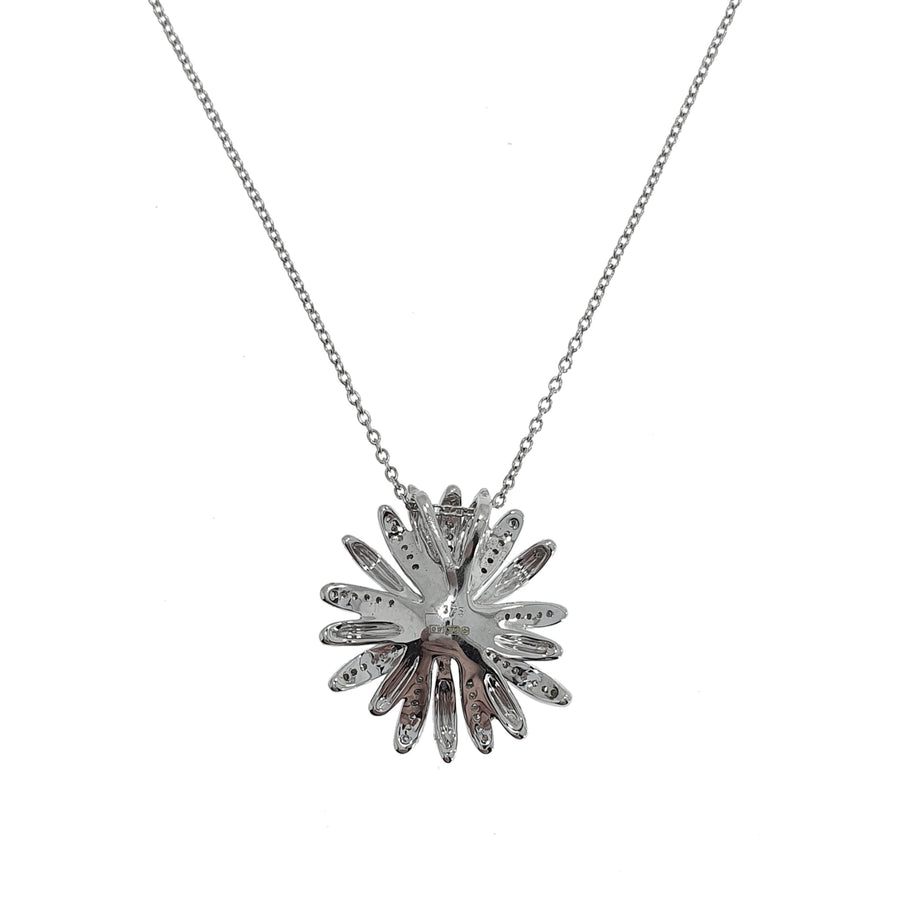 White Gold & Diamond Flower Pendant