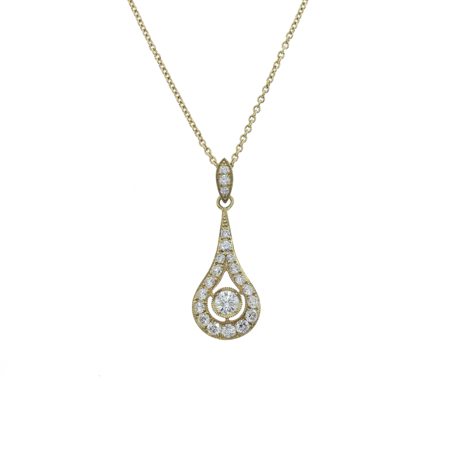 Pear Drop Diamond Necklace