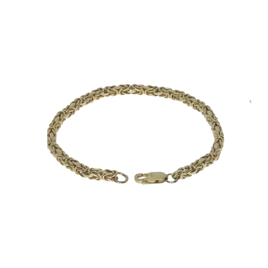 Yellow Gold Byzantine Bracelet