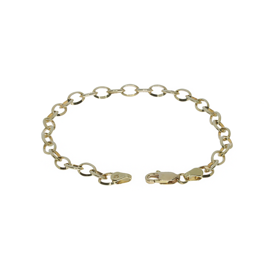 Handmade Knife-Edge Yellow Gold Bracelet