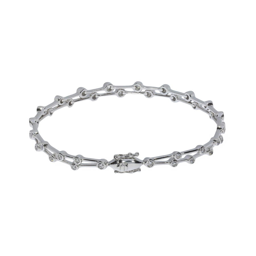 Diamond Double Row Bracelet