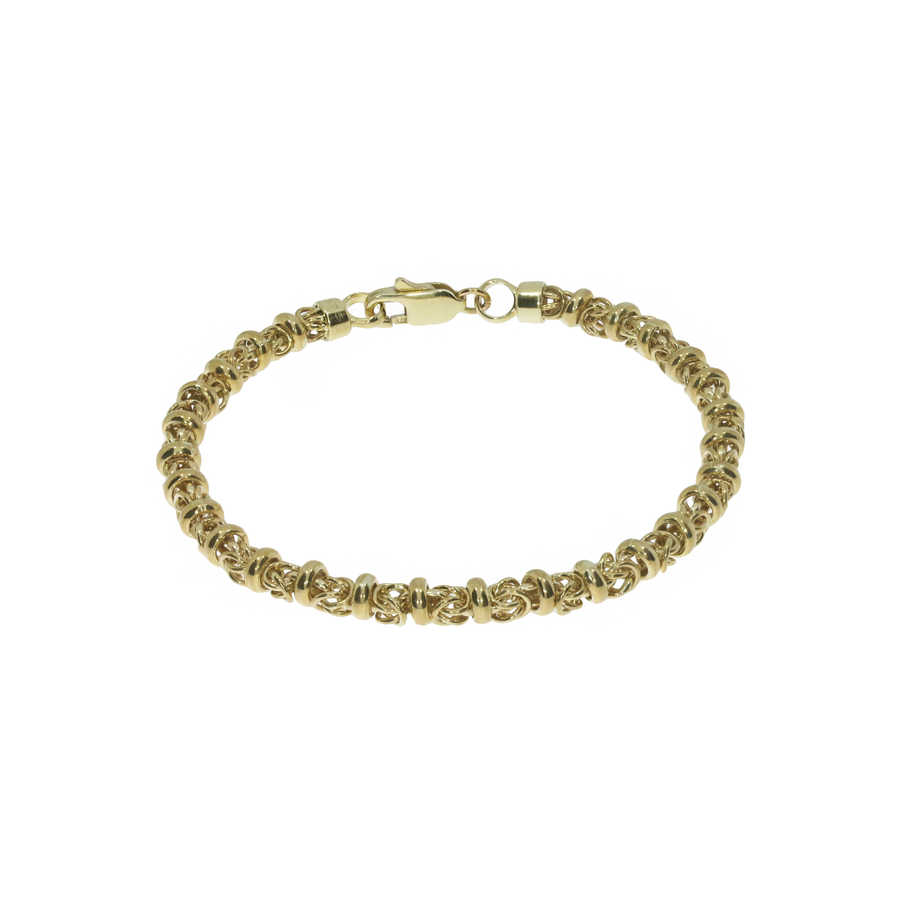 9ct Yellow Gold Byzantine Bracelet