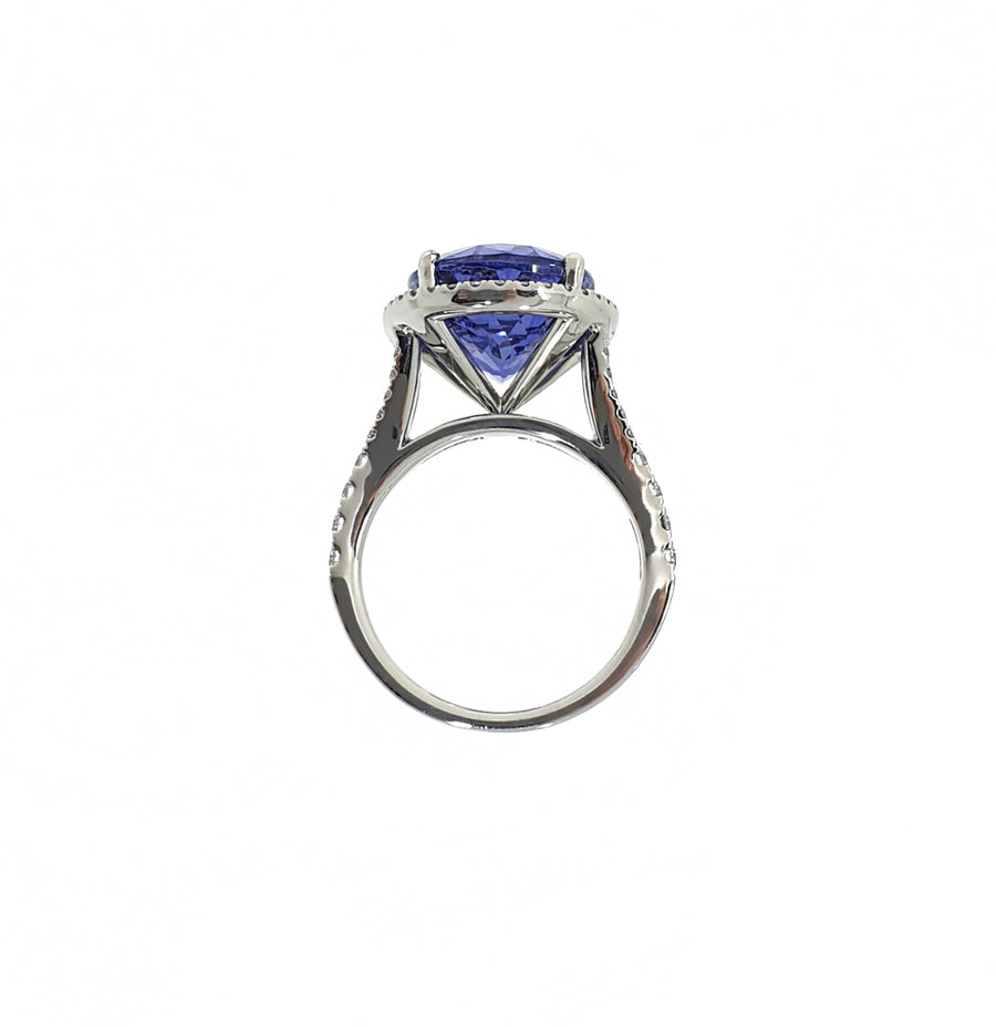 Tanzanite & Diamond Cluster Ring