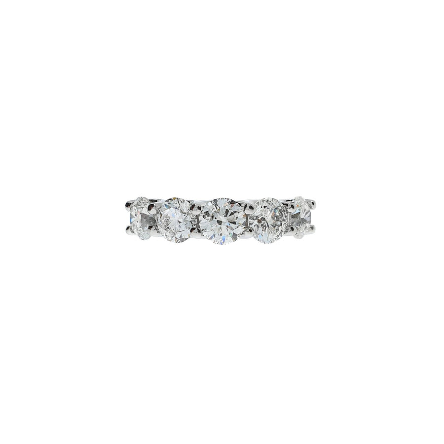 3.54ct Five Stone Diamond Ring
