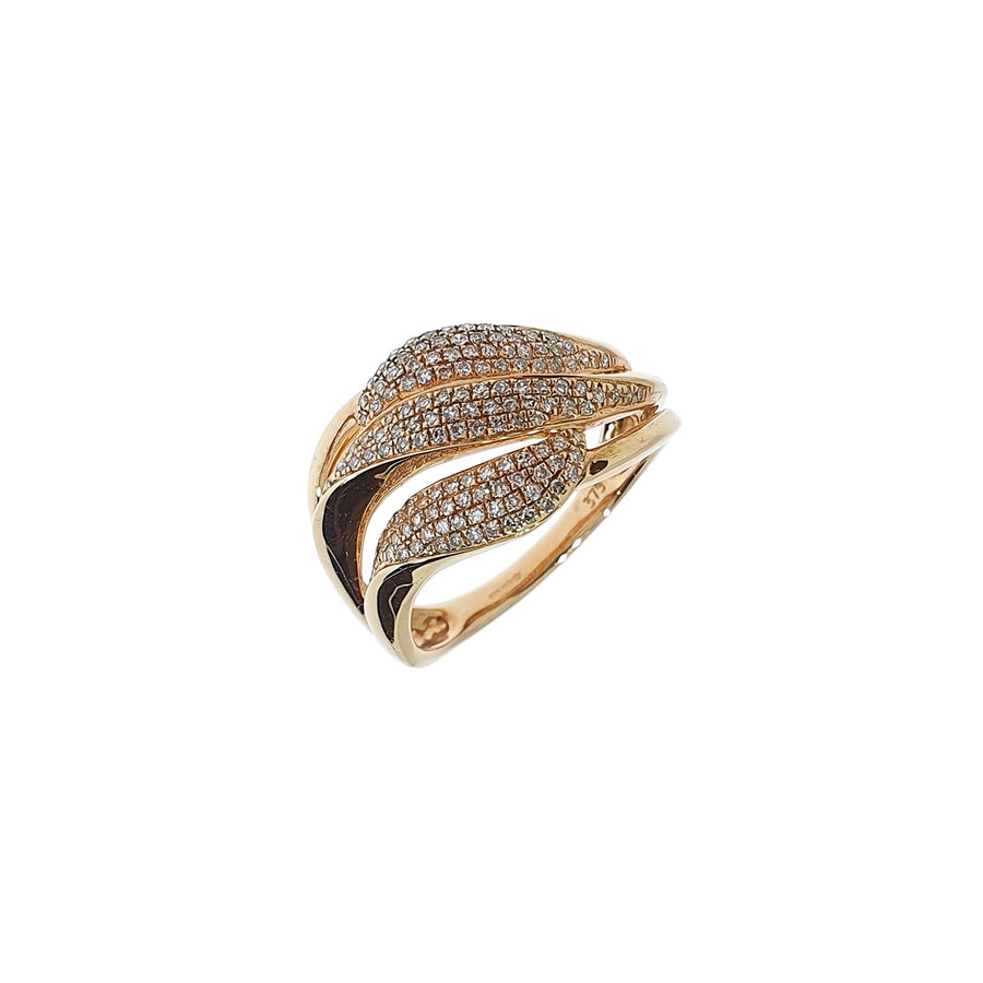 Rose Gold Diamond Dress Ring
