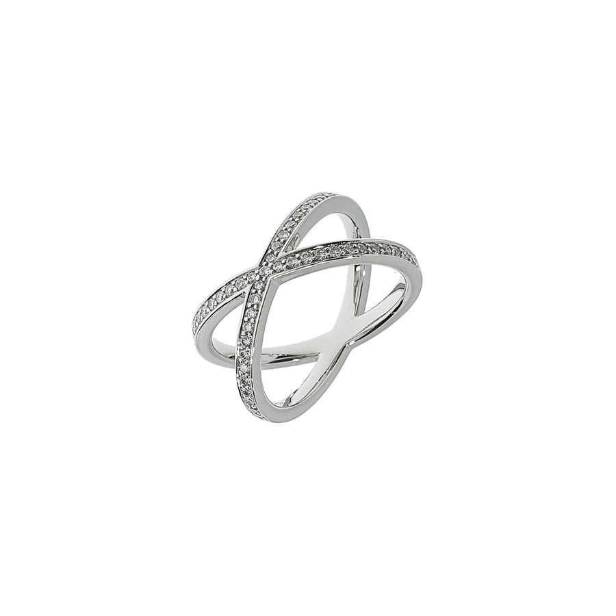 Diamond Crossover Style Ring
