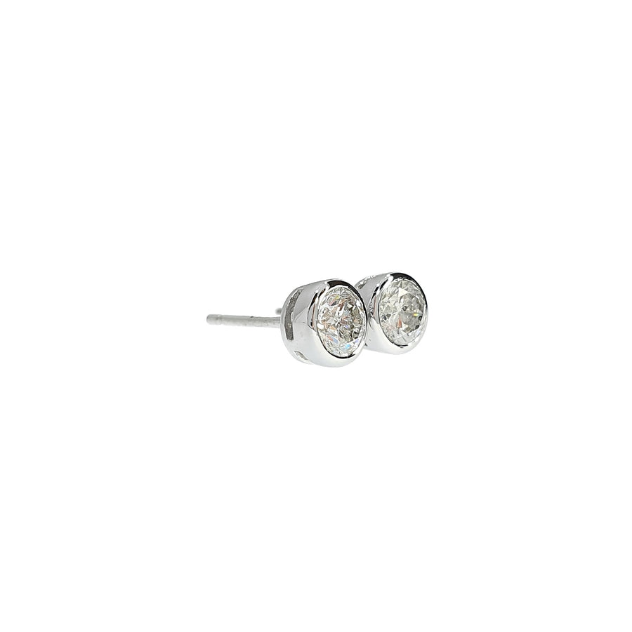 Rubover Diamond Stud Earrings
