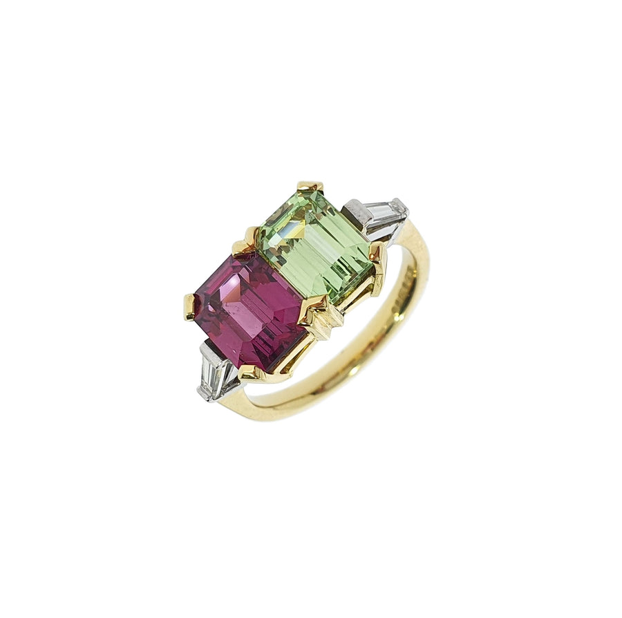 Multi-Colour Garnet Ring
